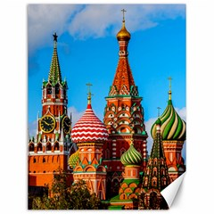 Moscow Kremlin And St  Basil Cathedral Canvas 12  X 16