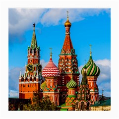 Moscow Kremlin And St  Basil Cathedral Medium Glasses Cloth