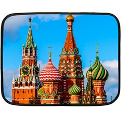 Moscow Kremlin And St  Basil Cathedral Fleece Blanket (mini)