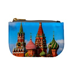 Moscow Kremlin And St  Basil Cathedral Mini Coin Purses
