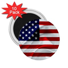 American Usa Flag 2 25  Magnets (10 Pack)