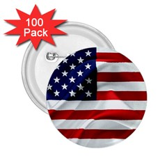 American Usa Flag 2 25  Buttons (100 Pack)