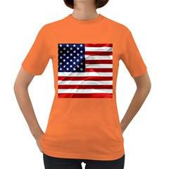 American Usa Flag Women s Dark T Shirt