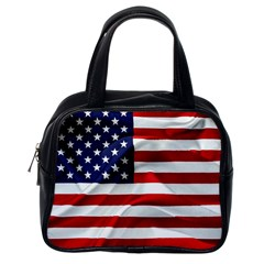 American Usa Flag Classic Handbags (one Side)