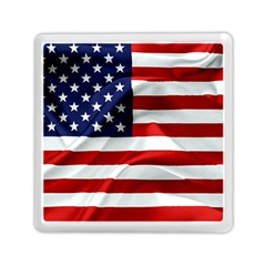 American Usa Flag Memory Card Reader (square)