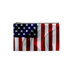 American Usa Flag Vertical Cosmetic Bag (small)