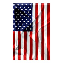 American Usa Flag Vertical Shower Curtain 48  X 72  (small)  by FunnyCow