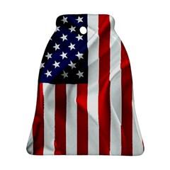 American Usa Flag Vertical Ornament (bell)