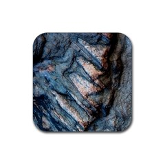 Earth Art Natural Rock Grey Stone Texture Rubber Square Coaster (4 Pack)