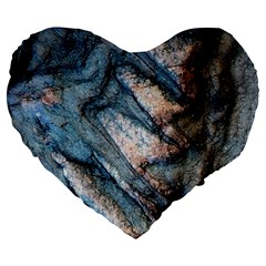 Earth Art Natural Rock Grey Stone Texture Large 19  Premium Heart Shape Cushions by CrypticFragmentsDesign