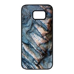 Earth Art Natural Rock Grey Stone Texture Samsung Galaxy S7 Edge Black Seamless Case by CrypticFragmentsDesign