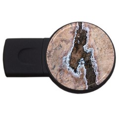 Earth Art Natural Texture Salt Of The Earth Usb Flash Drive Round (4 Gb)