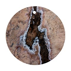 Earth Art Natural Texture Salt Of The Earth Ornament (round)