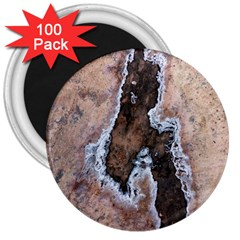 Earth Art Natural Texture Salt Of The Earth 3  Magnets (100 Pack) by CrypticFragmentsDesign