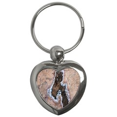 Earth Art Natural Texture Salt Of The Earth Key Chains (heart)