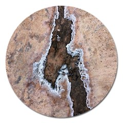 Earth Art Natural Texture Salt Of The Earth Magnet 5  (round)