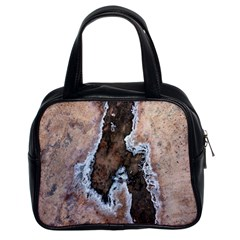 Earth Art Natural Texture Salt Of The Earth Classic Handbags (2 Sides)
