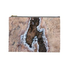 Earth Art Natural Texture Salt Of The Earth Cosmetic Bag (large)
