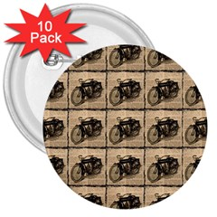 Indian Motorcycle 3  Buttons (10 Pack)