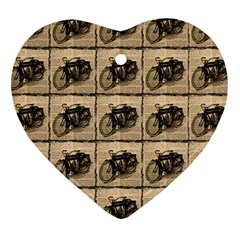 Indian Motorcycle Heart Ornament (two Sides)