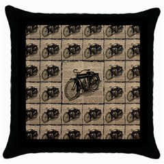 Indian Motorcycle 1 Throw Pillow Case (black)