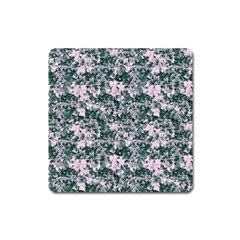 Floral Collage Pattern Square Magnet