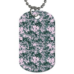 Floral Collage Pattern Dog Tag (two Sides)