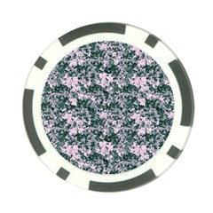 Floral Collage Pattern Poker Chip Card Guard