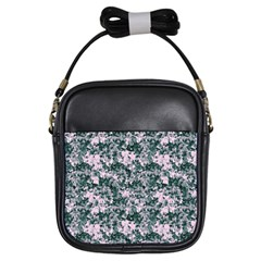 Floral Collage Pattern Girls Sling Bags