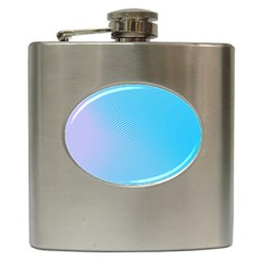 Background Graphics Lines Wave Hip Flask (6 Oz)