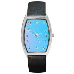 Background Graphics Lines Wave Barrel Style Metal Watch