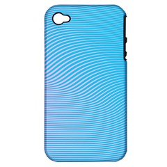 Background Graphics Lines Wave Apple Iphone 4/4s Hardshell Case (pc+silicone)