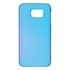 Background Graphics Lines Wave Samsung Galaxy S6 Hardshell Case