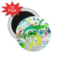 Points Circle Music Pattern 2 25  Magnets (10 Pack)