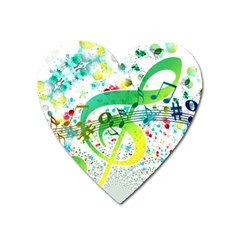 Points Circle Music Pattern Heart Magnet