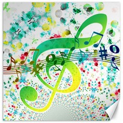 Points Circle Music Pattern Canvas 16  X 16   by Nexatart