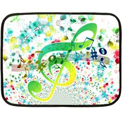 Points Circle Music Pattern Double Sided Fleece Blanket (mini)