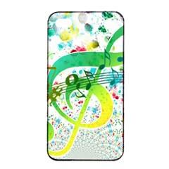 Points Circle Music Pattern Apple Iphone 4/4s Seamless Case (black)