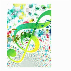 Points Circle Music Pattern Small Garden Flag (two Sides)