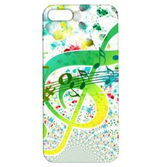 Points Circle Music Pattern Apple Iphone 5 Hardshell Case With Stand
