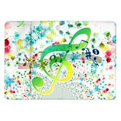Points Circle Music Pattern Samsung Galaxy Tab 10 1  P7500 Flip Case by Nexatart