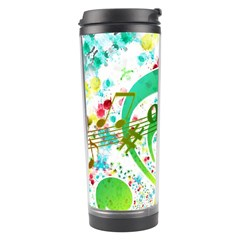 Points Circle Music Pattern Travel Tumbler