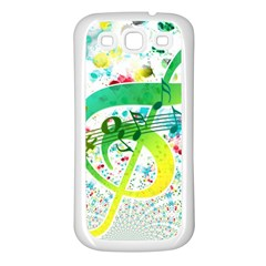 Points Circle Music Pattern Samsung Galaxy S3 Back Case (white)