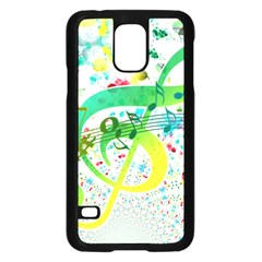 Points Circle Music Pattern Samsung Galaxy S5 Case (black)