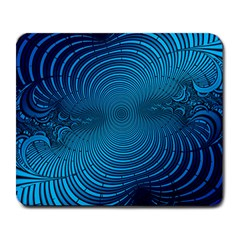 Blue Background Brush Particles Wave Large Mousepads