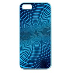 Blue Background Brush Particles Wave Apple Seamless Iphone 5 Case (color)