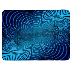 Blue Background Brush Particles Wave Samsung Galaxy Tab 7  P1000 Flip Case