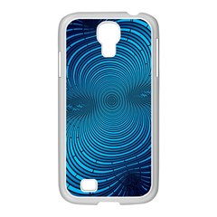 Blue Background Brush Particles Wave Samsung Galaxy S4 I9500/ I9505 Case (white)