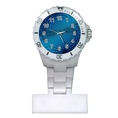 Blue Background Brush Particles Wave Plastic Nurses Watch