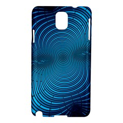 Blue Background Brush Particles Wave Samsung Galaxy Note 3 N9005 Hardshell Case